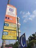 Arrêt d'autobus central de ferry d'étoile en Hong Kong Photos libres de droits