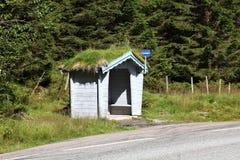 Arrêt d'autobus de la Norvège photographie stock