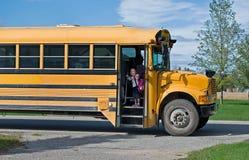 Arrêt d'autobus scolaire Photo libre de droits