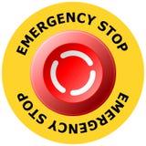 arrêt d'urgence Image stock