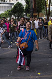 Arrêt de Bangkok : Le 14 janvier 2014 Image libre de droits