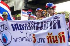 Arrêt de Bangkok : Le 14 janvier 2014 Image stock