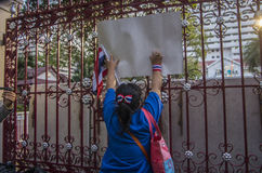Arrêt de Bangkok : Le 14 janvier 2014 Images libres de droits