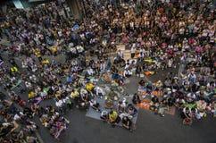 Arrêt de Bangkok : Le 13 janvier 2014 Images libres de droits