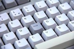 Arrêt de bouton de clavier Image libre de droits