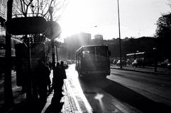Arrêt de bus Images libres de droits