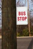 Arrêt de bus photographie stock