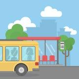 Arrêt de bus vide illustration de vecteur