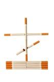 arrêt de fumage de danger de concept de cigarettes Photo libre de droits