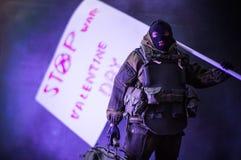 Arrêt de jour de valentines les milieux de guerre Photographie stock