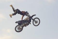 Arrêt de moto de style libre Photo stock