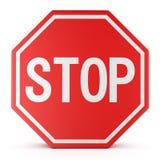 Arrêt de poteau de signalisation Photos libres de droits