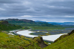 Arrêt de repos le long de Ring Road, Islande Photos stock