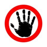 Arrêt de symbole ou de signe illustration libre de droits