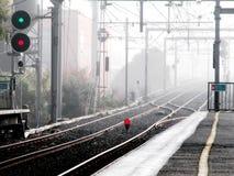 Arrêt de train Photographie stock libre de droits