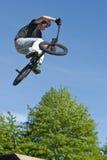 Arrêt de vélo de BMX Photos libres de droits