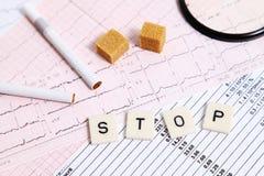 Arrêt des vices et de la maladie cardiaque Image stock
