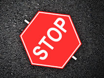 Arrêt - panneau routier Photo stock