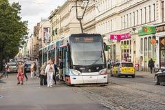 Arrêt Riga de tramway Photographie stock
