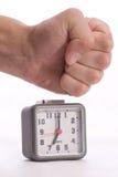 Arrêter l'alarme sur l'horloge d'alarme Photo libre de droits