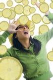 Arrêtez avec le citron images stock
