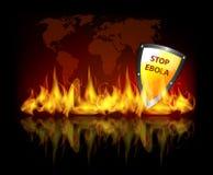 Arrêtez Ebola Image libre de droits