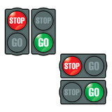 Arrêtez et allez Image stock
