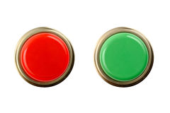 Arrêtez et allez dessus de boutons/vue de face Images stock