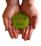 Arrêtez GMO Photographie stock libre de droits