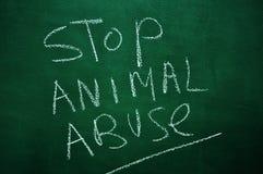 Arrêtez l'abus animal photo stock