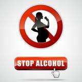 Arrêtez l'alcool illustration de vecteur