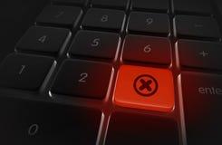 Arrêtez l'alerte de bouton d'annulation photos libres de droits