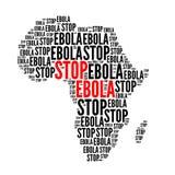 Arrêtez l'ebola rouge et noir Photographie stock