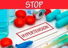 arrêtez l'hypertension Photographie stock libre de droits
