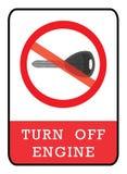 Arrêtez l'icône de moteur illustration libre de droits