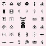 arrêtez l'icône de train de signe Ensemble universel d'icônes ferroviaires d'avertissements pour le Web et le mobile illustration stock