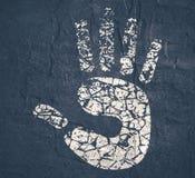 Arrêtez l'icône de main Images libres de droits