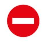 arrêtez l'icône de signe Image libre de droits