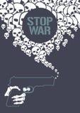 Arrêtez l'illustration de vecteur de concept de guerre Illustration Libre de Droits