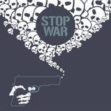 Arrêtez l'illustration de vecteur de concept de guerre Illustration de Vecteur