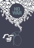 Arrêtez l'illustration de vecteur de concept de guerre avec la grenade Illustration Stock