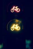 Arrêtez la bicyclette de signe image stock