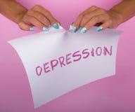 Arrêtez la dépression image stock