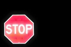 Arrêtez la droite moyenne de signe Photos stock