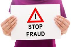 Arrêtez la fraude Photos libres de droits