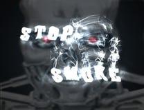 Arrêtez la fumée photographie stock libre de droits
