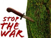 Arrêtez la guerre Images libres de droits