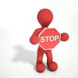 Arrêtez la personne de signe Photos stock