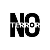 Arrêtez la terreur Images stock