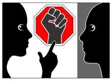Arrêtez la violence familiale et la maltraitez illustration libre de droits